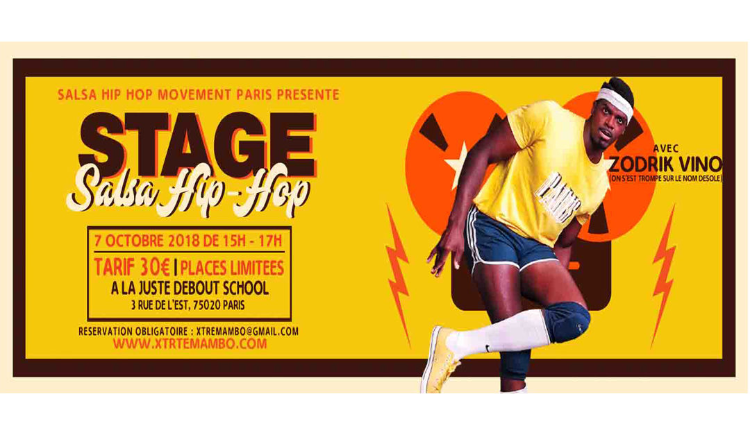 salsa, salsa hip hop, xtremambo, danse, danseur chorégraphe, rodrigue lino, xtremambo, salsa hip hop stage, salsa hip hop workshop,