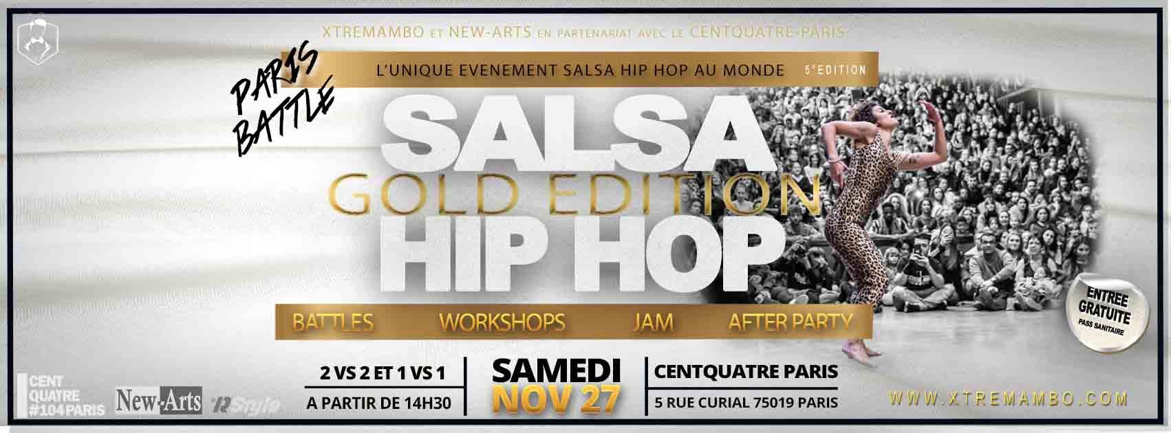 Paris Salsa hip hop Battle, dance, salsa hip hop fusion, centquatre paris, xtremambo, lino el maestro, compagnie salsa hip hop, salsa hip hop France